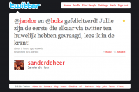 Felicitaties Sander de Heer Radio 2 De Heer ontwaakt Twedding